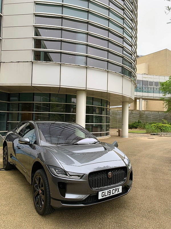 Jaguar I-Pace at Discover Park electric car demonstration